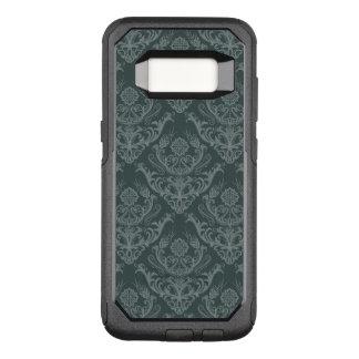 贅沢な緑の花のダマスク織の壁紙 オッターボックスコミューターSamsung GALAXY S8 ケース