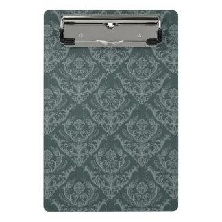 贅沢な緑の花のダマスク織の壁紙 ミニクリップボード