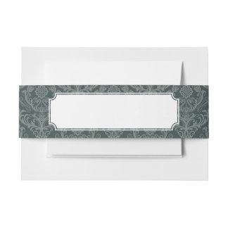 贅沢な緑の花のダマスク織の壁紙 招待状ベリーバンド