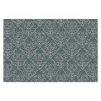 贅沢な緑の花のダマスク織の壁紙 薄葉紙