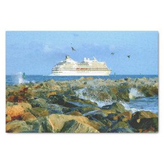贅沢な遊航船との海景 薄葉紙