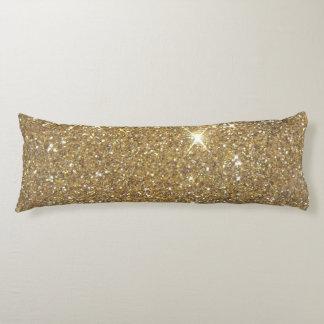 贅沢な金ゴールドのグリッター-印書イメージ ボディピロー