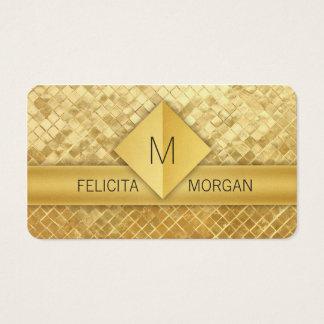 贅沢な金ゴールドのモノグラムの名刺のテンプレート 名刺