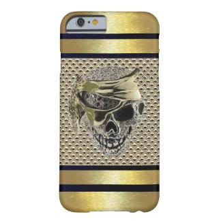 贅沢な金ゴールドの水晶宝石のファンシーなスカルの箱 BARELY THERE iPhone 6 ケース