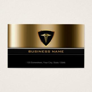 贅沢な金ゴールドの盾の医療の名刺 名刺