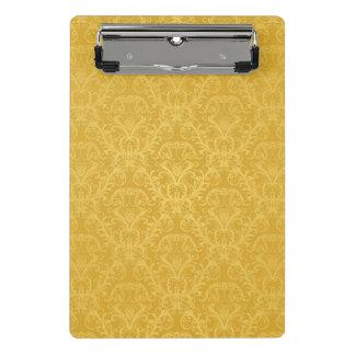 贅沢な金花模様の壁紙 ミニクリップボード