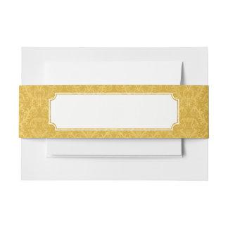 贅沢な金花模様の壁紙 招待状ベリーバンド