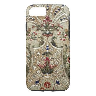 贅沢な革はプリントのVibeのiPhone 7の場合を金めっきしました iPhone 8/7ケース