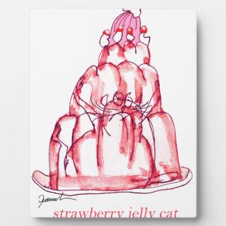 贅沢なfernandesのいちごのゼリー猫 フォトプラーク