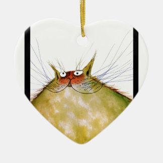 贅沢なfernandesのショウガのトム猫のスナップ セラミックオーナメント