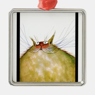 贅沢なfernandesのショウガのトム猫のスナップ メタルオーナメント