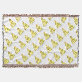 贅沢なfernandesのバナナのjello猫 スローブランケット