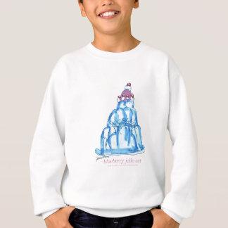 贅沢なfernandesのブルーベリーのjello猫 スウェットシャツ