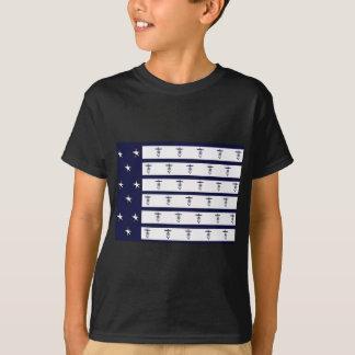 贅沢なfernandesの旗のいかり2a tシャツ