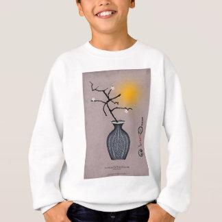贅沢なfernandesの月および3個のプラム花 スウェットシャツ