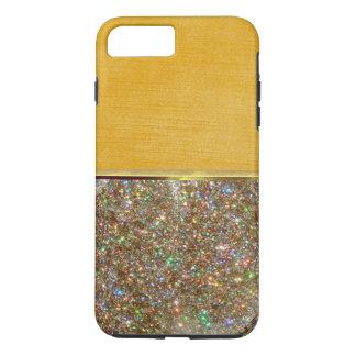 贅沢のクールな貝の金ゴールドのスエードのデザインの場合 iPhone 8 PLUS/7 PLUSケース