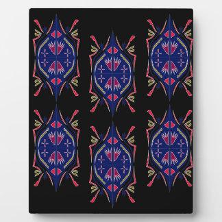 贅沢はアラビア民俗暗藍色を飾ります フォトプラーク