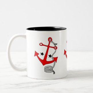 赤いいかり(のために) ツートーンマグカップ
