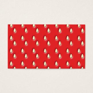 赤いいちごパターン 名刺