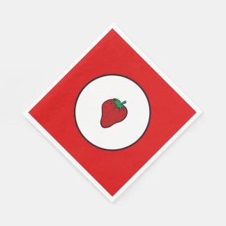 赤いいちご スタンダードランチョンナプキン