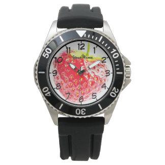 赤いいちご 腕時計