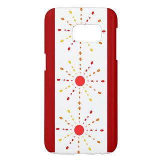 赤いおよびオレンジの光線 SAMSUNG GALAXY S7 ケース