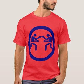 赤いおよびブルーボックス Tシャツ