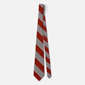 赤いおよび灰色の縞模様のネクタイ2 オリジナルネクタイ