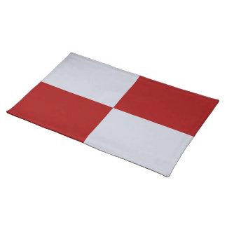 赤いおよび灰色の長方形のランチョンマット ランチョンマット
