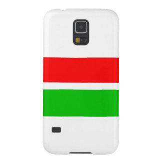 赤いおよび緑のクリスマスは縞で飾ります GALAXY S5 ケース