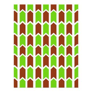 赤いおよび緑の塀のパネル レターヘッド