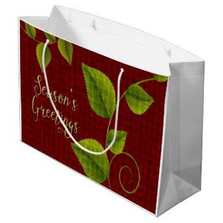 赤いおよび緑の大きいクリスマスのギフトバッグ ラージペーパーバッグ