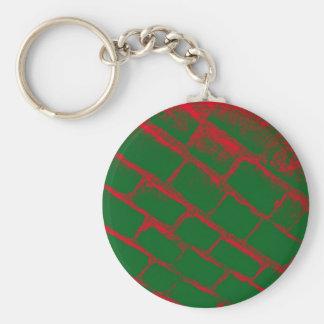 赤いおよび緑の玉石 キーホルダー