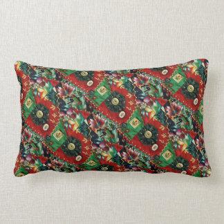 赤いおよび緑の腰神経の枕 ランバークッション