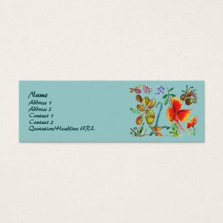 赤いおよび緑の花58のプロフィールカード スキニー名刺