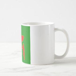 赤いおよび緑色ののバングラデシュの地図 コーヒーマグカップ