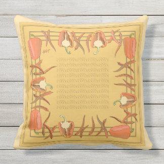 赤いおよび金コショウは枕を設計しました アウトドアクッション
