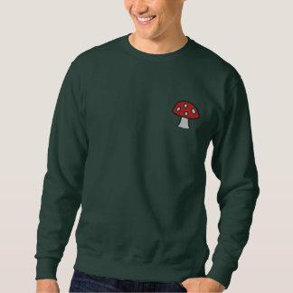 赤いきのこによって刺繍されるスエットシャツ 刺繍入りスウェットシャツ