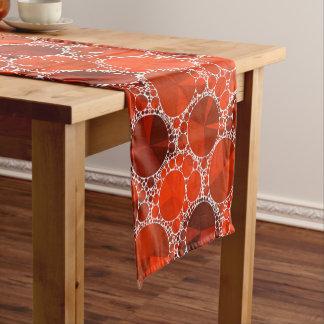 赤いきらきら光る ショートテーブルランナー