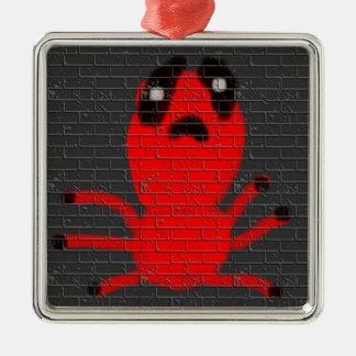 赤いくものブラウンの壁絵画、子供による芸術:) メタルオーナメント