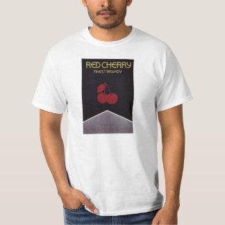 赤いさくらんぼの古いポスター Tシャツ