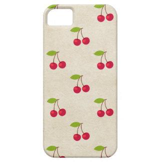 赤いさくらんぼの小さいさくらんぼのプリントの素朴なヴィンテージ iPhone SE/5/5s ケース