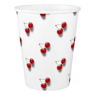 赤いさくらんぼ 紙コップ
