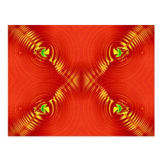 赤いさざ波 ポストカード