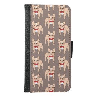 赤いちょうネクタイを持つかわいく軽い子鹿のフレンチ・ブルドッグ GALAXY S6 ウォレットケース