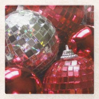 赤いつまらないものガラスのコースター ガラスコースター