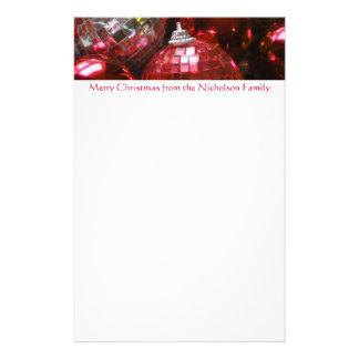赤いつまらないものヘッダーの文房具の赤の文字 便箋