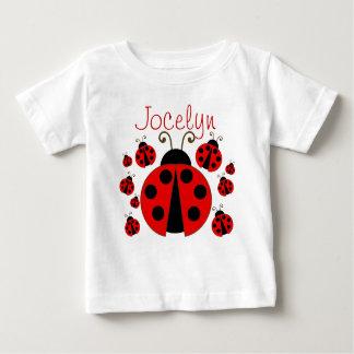赤いてんとう虫 ベビーTシャツ