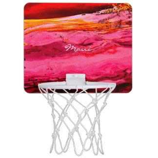 赤いですかピンクのマウイはThunder_Coveを振ります ミニバスケットボールゴール