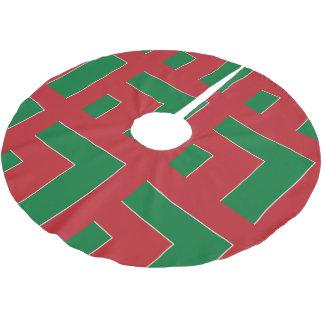 赤いですか緑色のコーナー(MB) ブラッシュドポリエステルツリースカート
